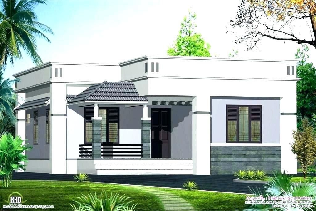 23 Inspirational One Story Flat Roof House Plans Collection Modern Bungalow House Single Floor House Design Simple House Design