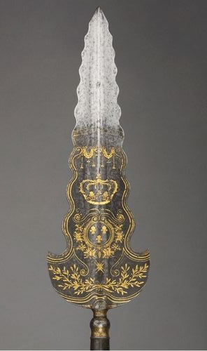Partizan, Dated: 1620 Culture: French Medium: steel, gold, copper alloy, silk, velvet and cotton, blued and damascened