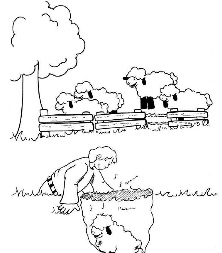 Lost Sheep Coloring Page | coloring pages | Pinterest | Escuela ...