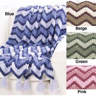 Mary Maxim - Free Harmony Ripple Afghan Crochet Pattern - Free ...