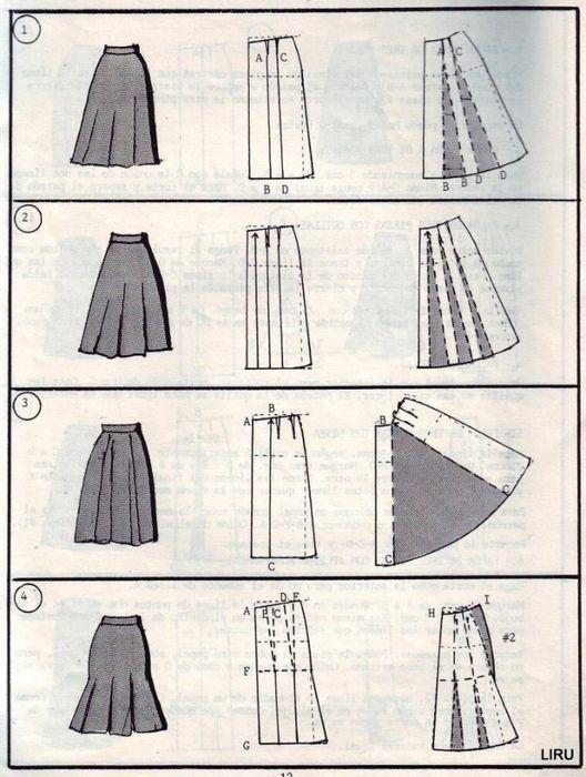 Mod@ En Line@ | clothes | Pinterest | Falda, Costura y Patrones