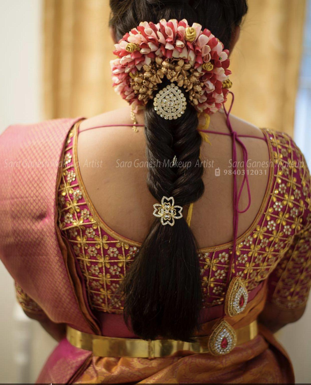 Pin By Pankaj Tejani On Blouse Bridal Hairdo Hair Styles Indian Hairstyles