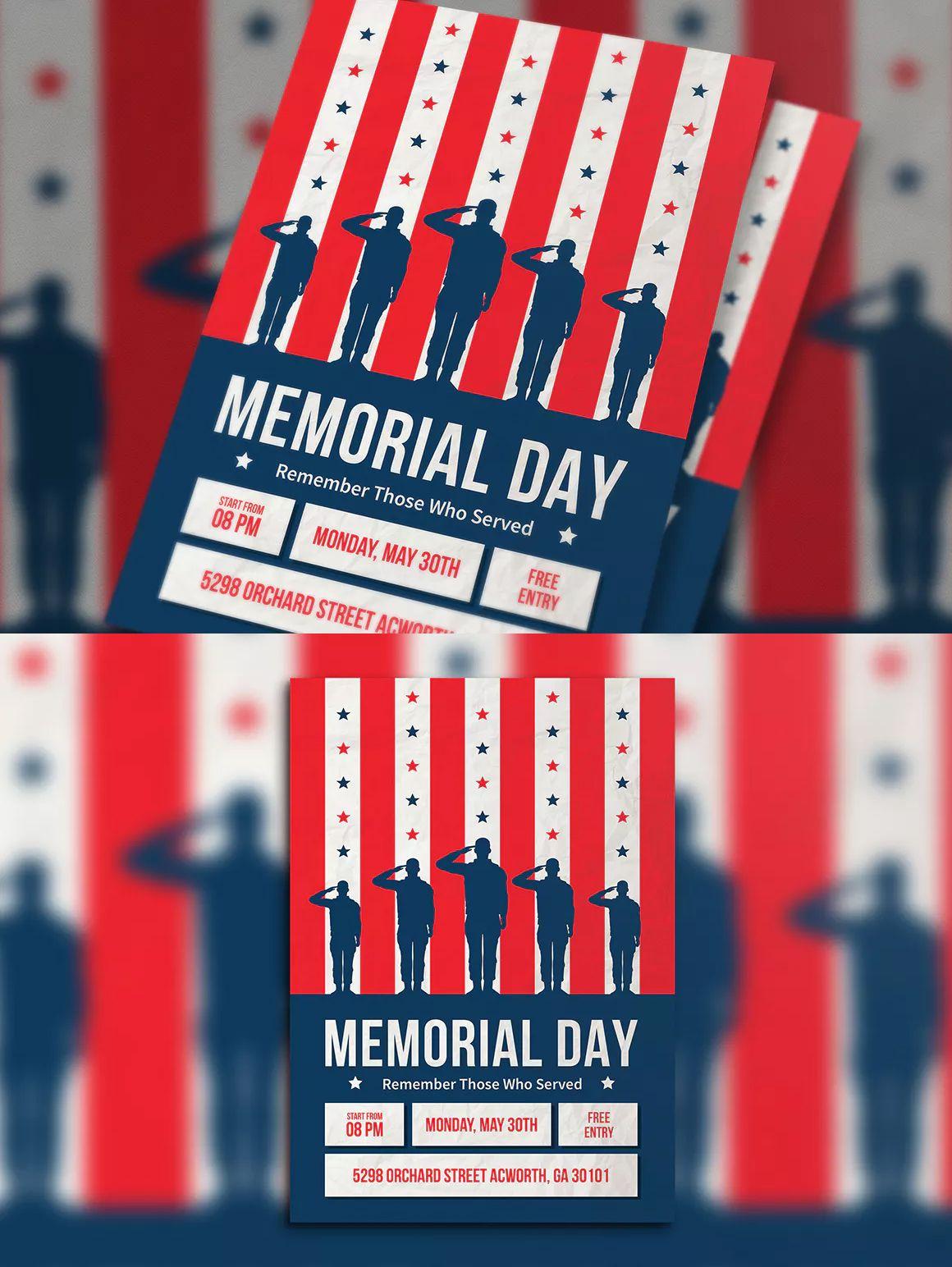 memorial day flyer template ai psd a4 unlimiteddownloads