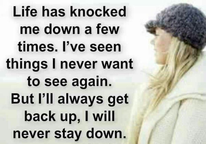 There will always be people wanting to knock you down in