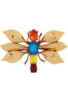 24-karat gold-plated insect brooch - Oscar de la Renta