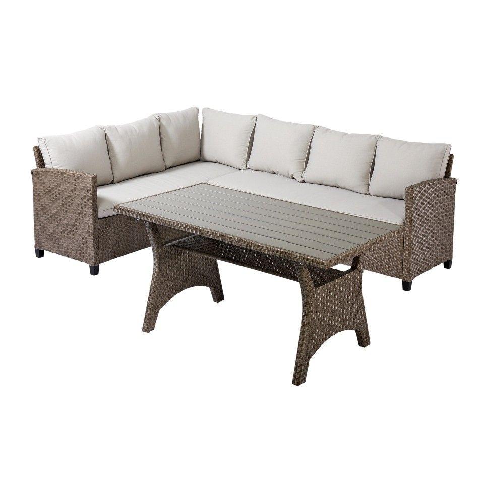 Eck Sofa Set California Mit Auflagen Garten Terasse Draussen