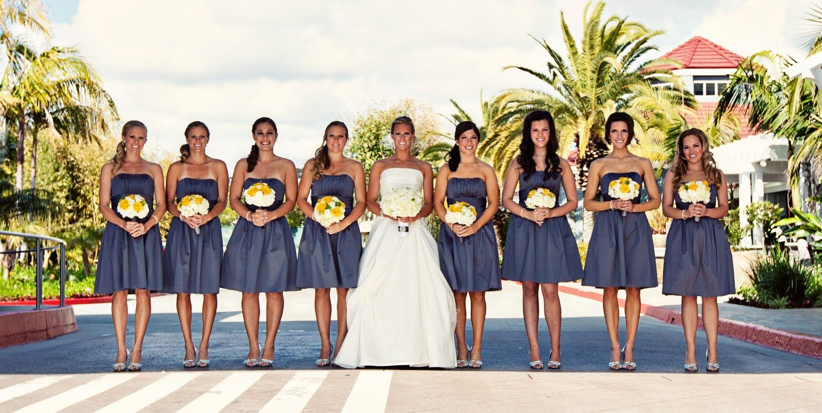 Heavenly Blooms Yellow And Grey Modern Beach Wedding With Rustic Metallic Accents Love