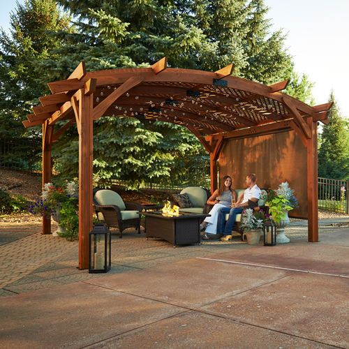 Privacy Wall For 12 X12 Sonoma Arched Pergola Outdoor