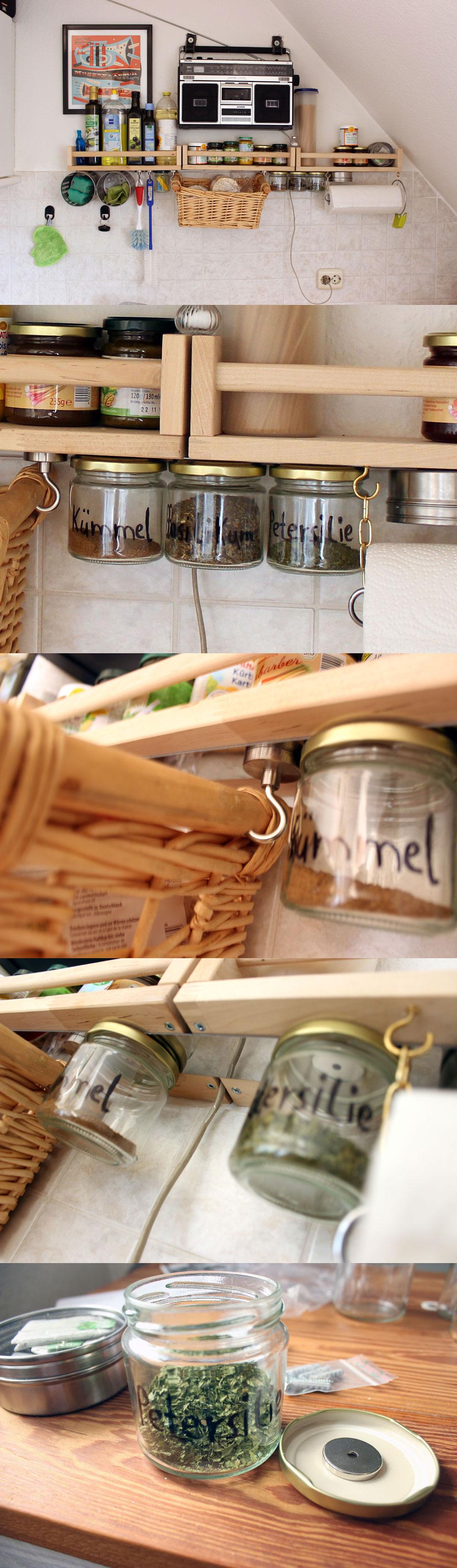 Küche organisieren mit Magneten. Organising a tiny kitchen ...