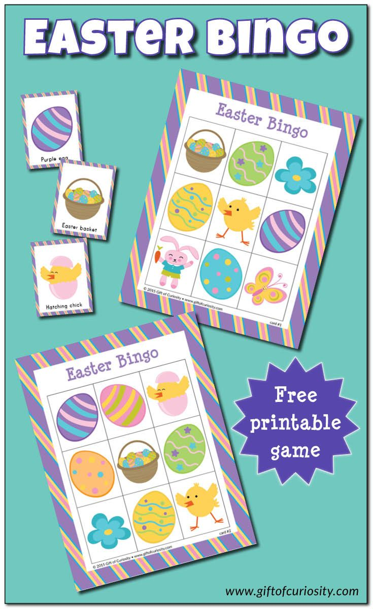 Easter Bingo Game Free Printable Easter Printables Free Easter Lessons Easter Activities For Preschool [ 1200 x 735 Pixel ]