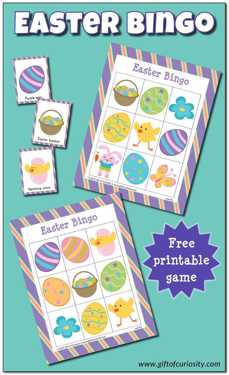 Easter Bingo game {free printable | Gift of Curiosity | Pinterest ...