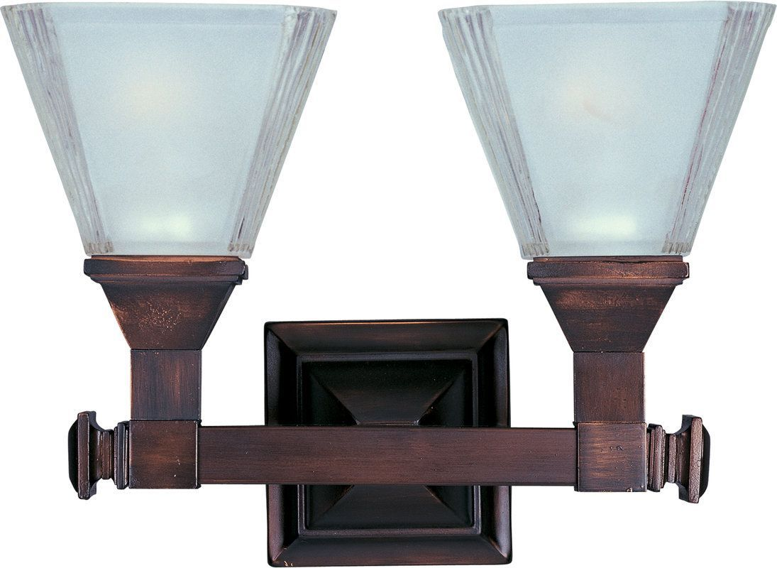 Photo of Maxim 11077FTOI Oil Rubbed Bronze / Frosted Glass Brentwood 13″ Wide Bath Light – LightingDirect.com