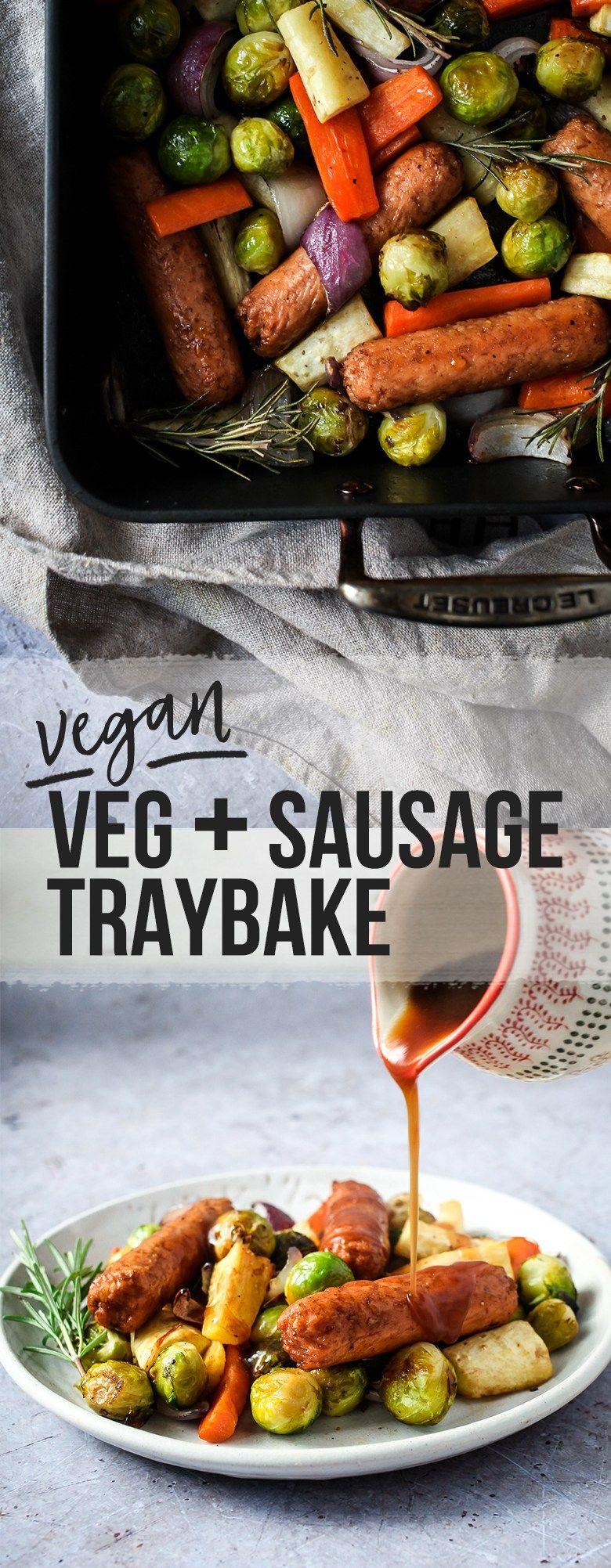 Vegan Christmas Veg Sausage Traybake