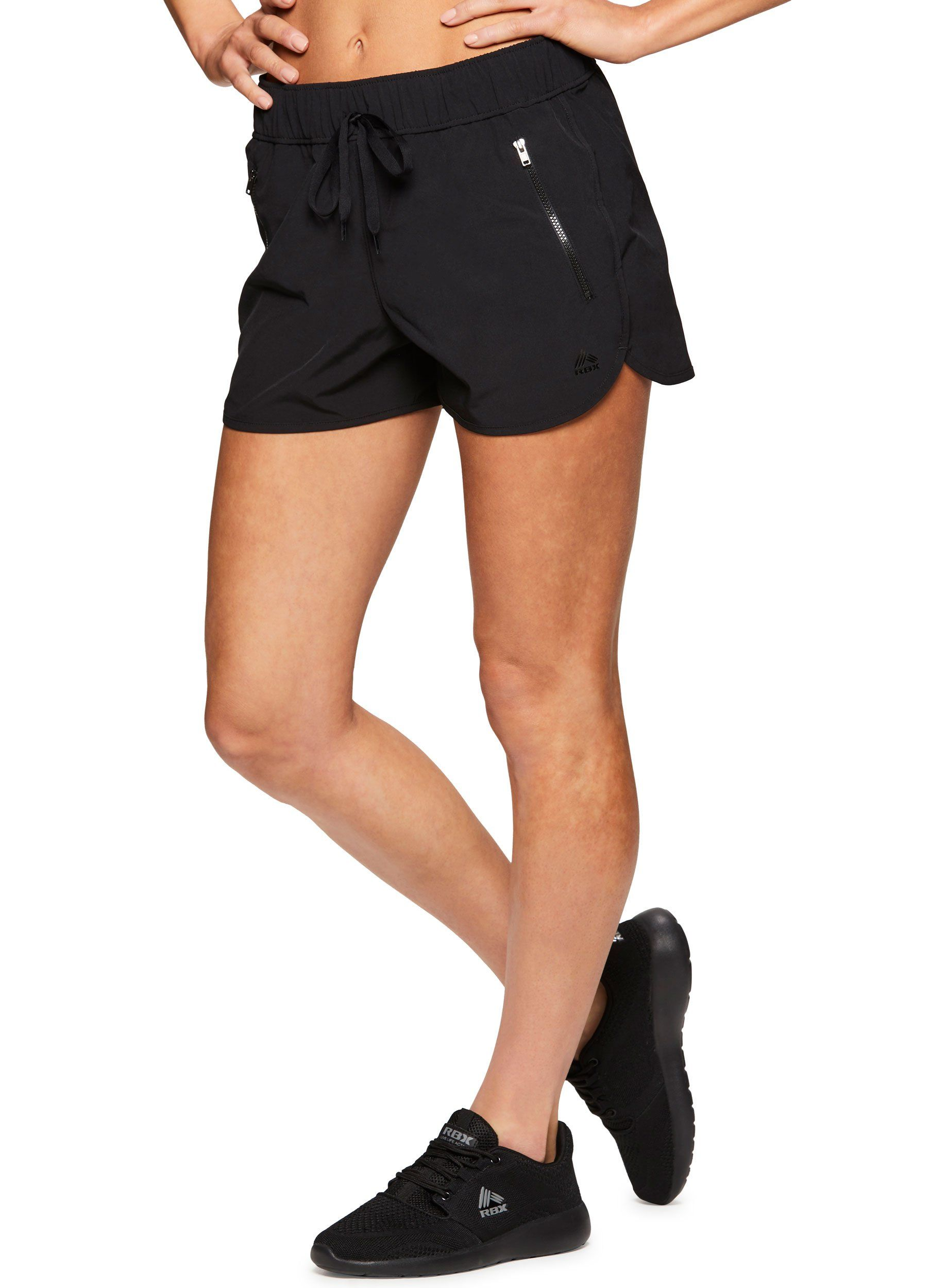 a32949d1c3d0d Women Golf Clothing - RBX Active Womens Workout Gym Running Shorts Shining  Black L