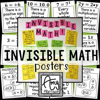 How Can So Many Students Be Invisible >> Invisible Math Posters Or Handout School Stuff Math Poster