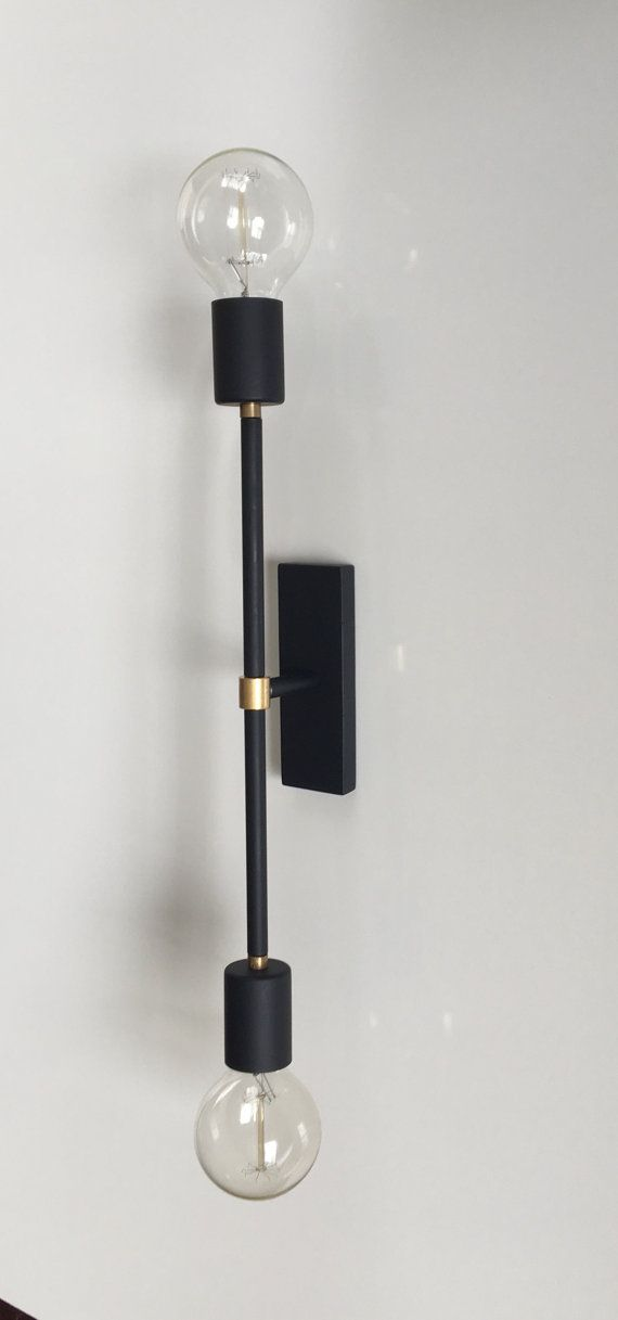 Modern Black Wall Sconce Modern Lamp Modern Wall Light Brass Modern Lamp Brass Wall Light Modern Black Wall Sconces