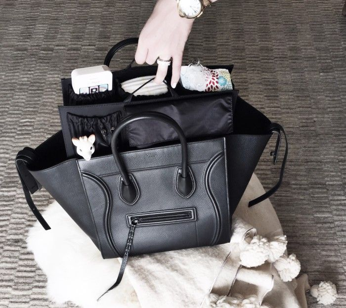 VENZEDITS-Bump-Day Diaper-Bag   Diaper bag inside the Celine Phantom  Luggage Tote 142ce63564