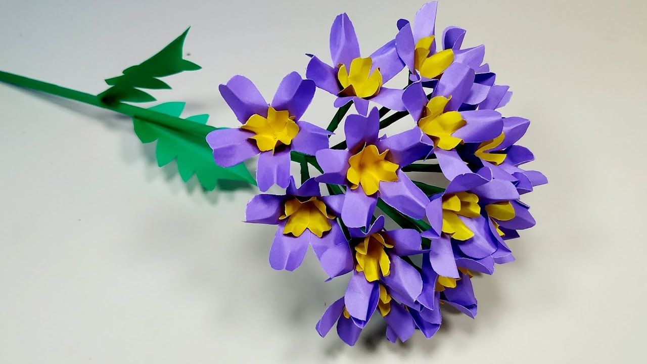 Paper Craft How To Make Very Beautiful Stick Flower Making Idea