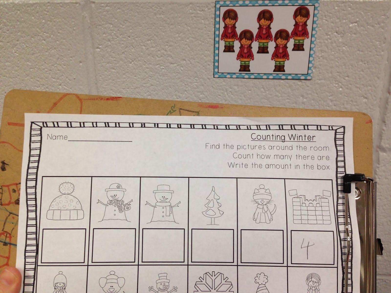 Write The Room Math For Kindergarten