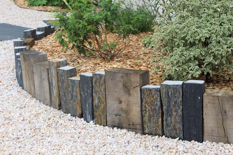 Piquets D Ardoise Bordure Jardin Bois Decoration Jardin Decoration Jardin Exterieur