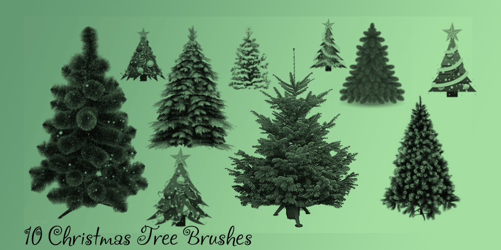 Designer Christmas Toolbox Bring Festive Mood To Your Site With Free Christmas Vectors And Psd Files Tree Photoshop Palm Trees Painting Christmas Tree Painting