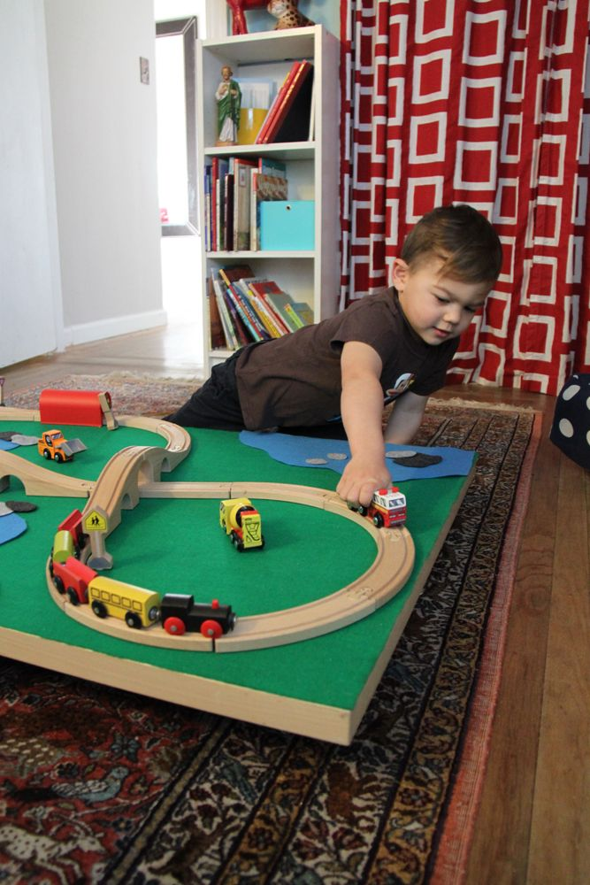 DIY Trundle Train Table, Easy To Make Even Easier To Store. Plus A Felt