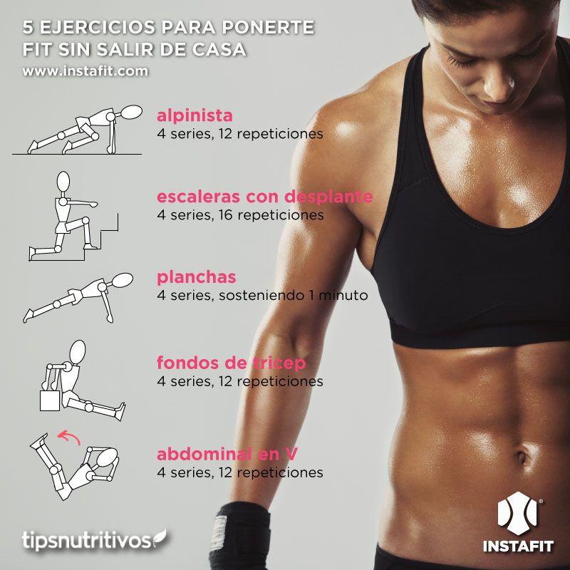 5 ejercicios para ponerte fit sin salir de casa fit pinterest ejercicios saliendo de - Plan de entrenamiento en casa ...