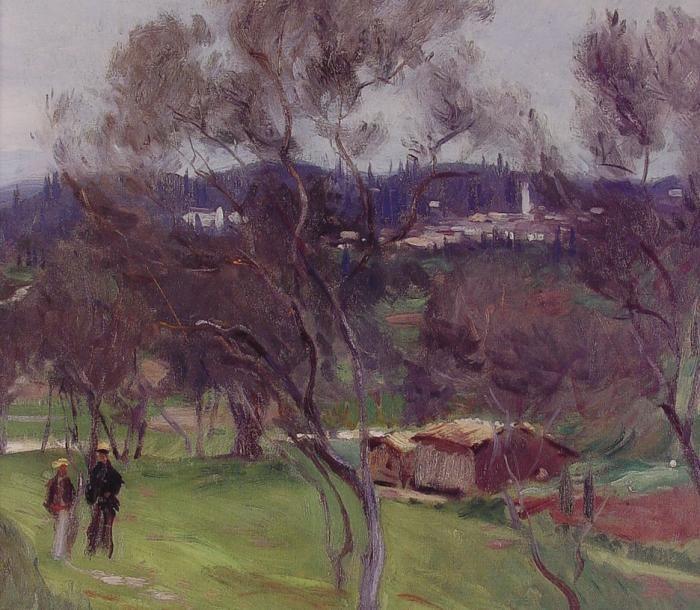 Art History Timelines: View Artwork: John Singer Sargent, John Singer Sargent - Olive Trees Corfu