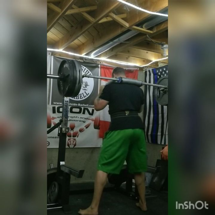 Deload week for squats, chose the hardest bar to give my elbows a break, the ssb or Satan's squat b