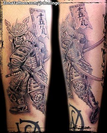 Foto tatuaje Samurais, Guerreros, Antebrazo
