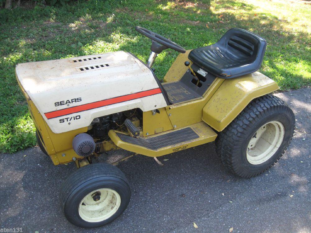 Old Sears Garden Tractors Antique : Vintage sears st lawn garden tractor hp briggs