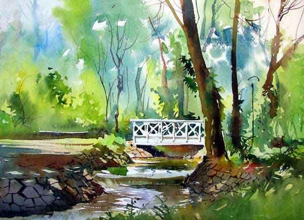 Amazing Examples Of Landscape Watercolor Paintings Paysage Aquarelle Aquarelle Peinture
