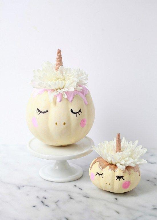 decorative unicorn pumpkins // Autumn decoration