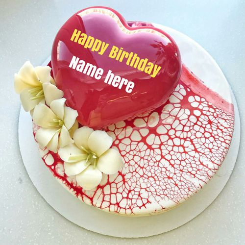 Romantic Birthday Cake With Wife Name On It Special Birthday