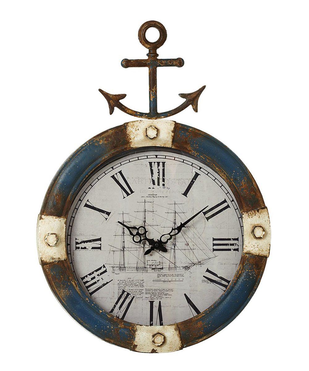 Anchor wall clock distressed anchor wall clock amipublicfo Images