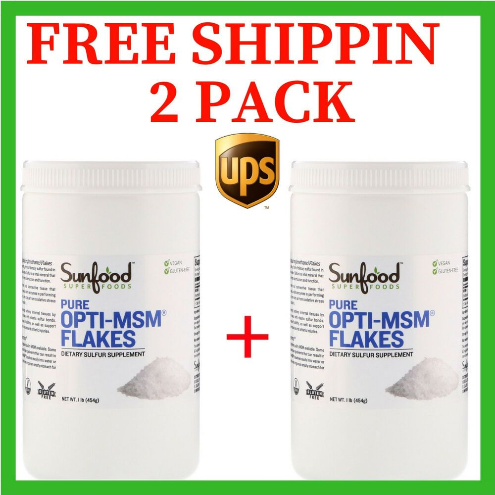 Details about 2 PACK Sunfood Pure Opti-MSM Flakes 1 lb (454