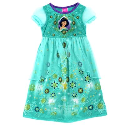 Disney Princess Jasmine Nightshirt Nightgown Aladdin All Sizes Magic Lamp Green