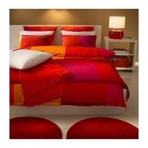 Biancheria Da Letto Ikea.Ikea Set Lenzuola 140x200 200x140 Cm Nuovo Biancheria Da Letto Rosso