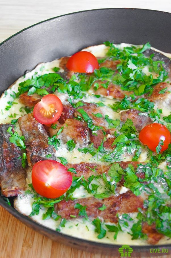 Караси в омлете рецепт   Fried carp in an omelette