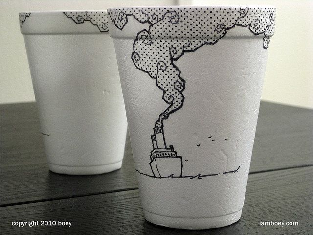 Rare Styrofoam Coffee Cup Art That Borders On The Epically Insane ...