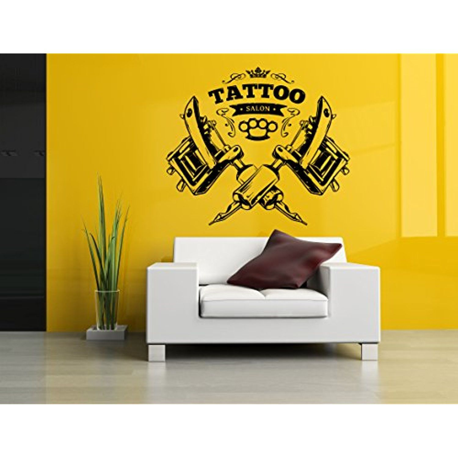 Vinyl Sticker Decal Tattoo Gun Machine Salon Logo Sign Studio Indoor ...