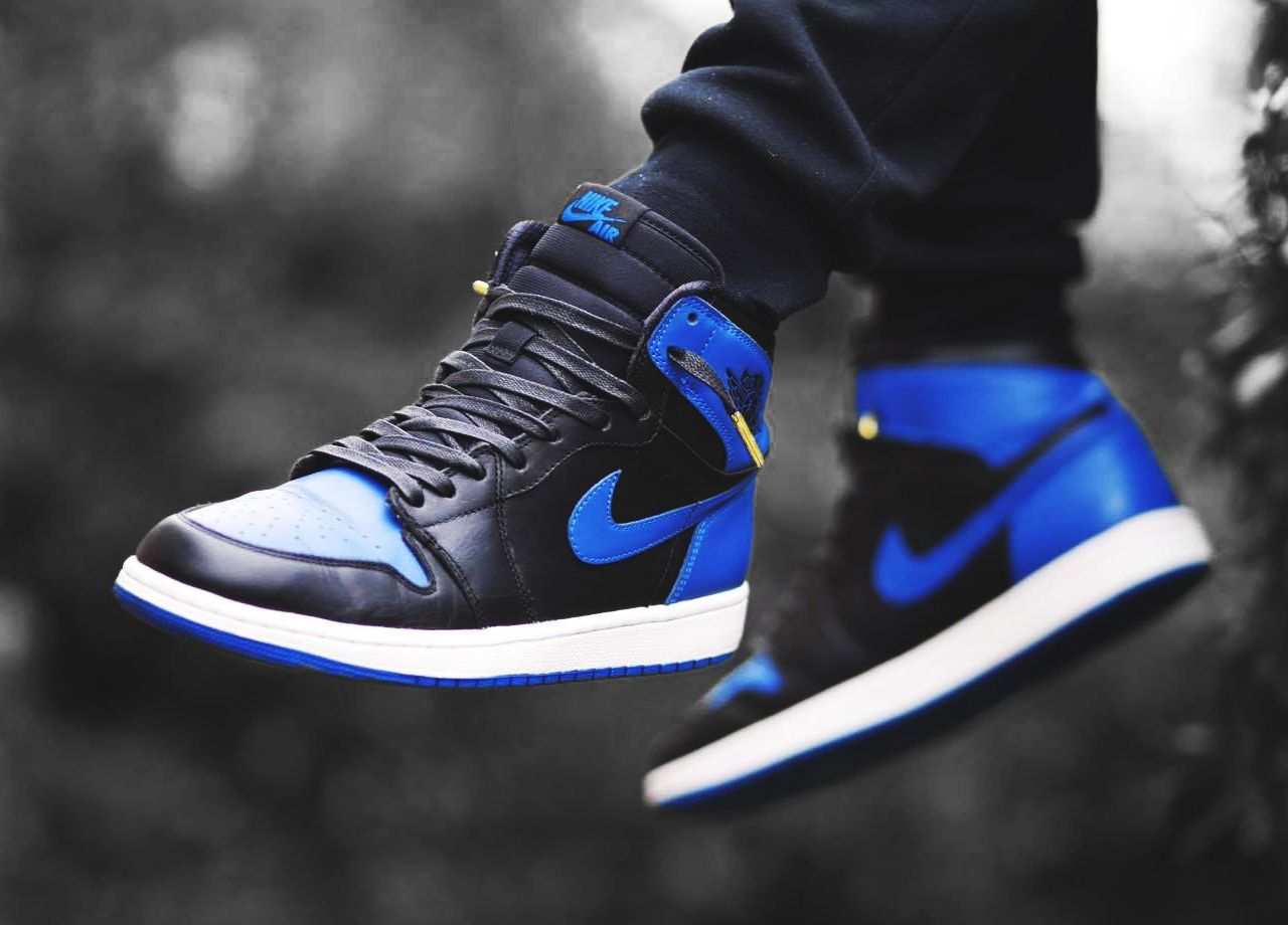 1f6896d8153501 Nike Air Jordan 1 Retro High - Black Royal Blue (by sneakerjunkienz ...