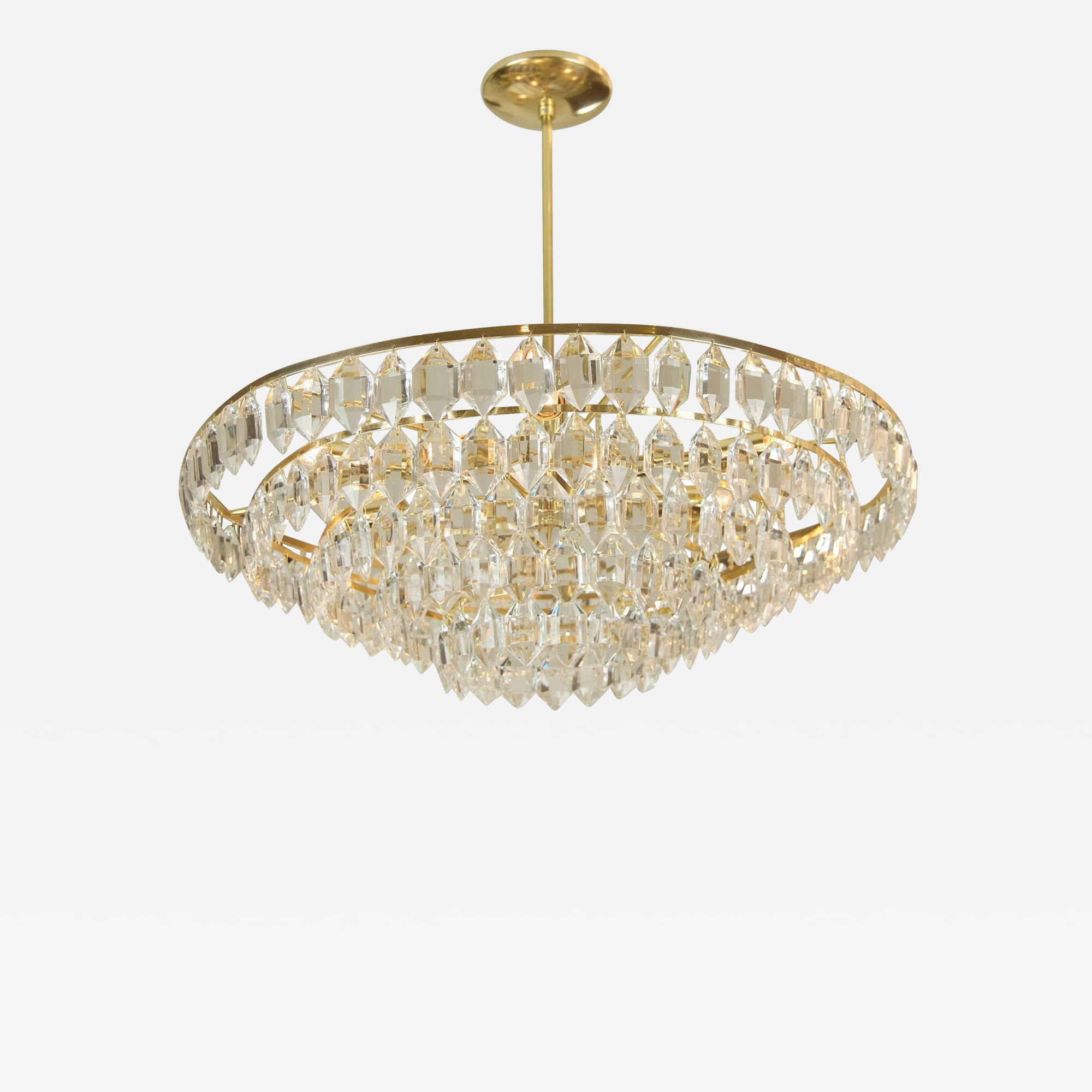 Large Palwa Brass And Crystal Chandelier Products In 2019