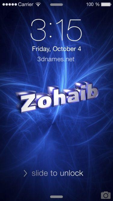 zohaib name beautiful