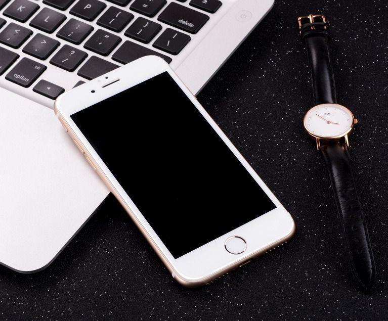 6pcs 9h hardness white iphone7 full screen protector anti