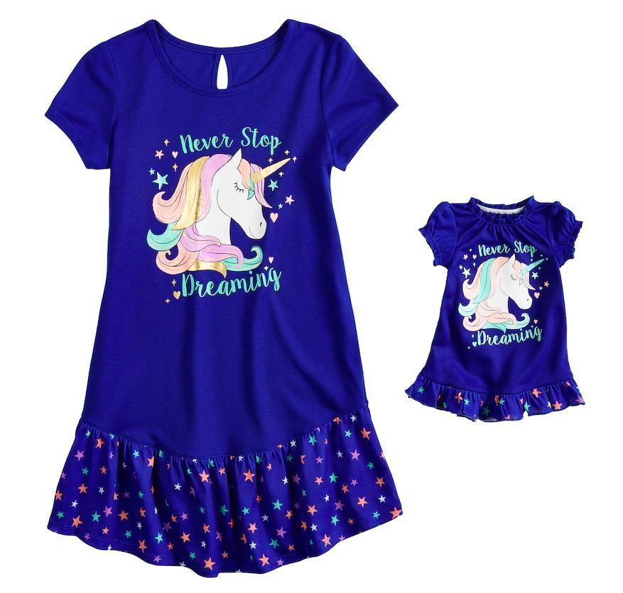 7cce49dcd6 Sleepwear 99735  Girl 4-14 And Doll Matching Unicorn Nightgown Clothes Ft  American Girl Dollie Me -  BUY IT NOW ONLY   16.99 on  eBay  sleepwear   matching ...
