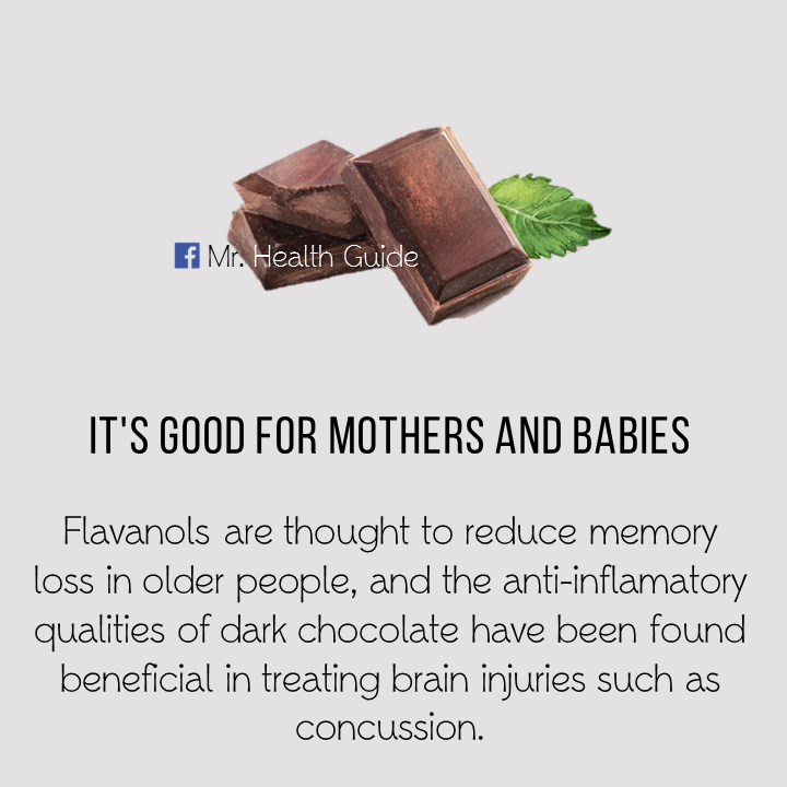 Health benefits of eating chocolate.