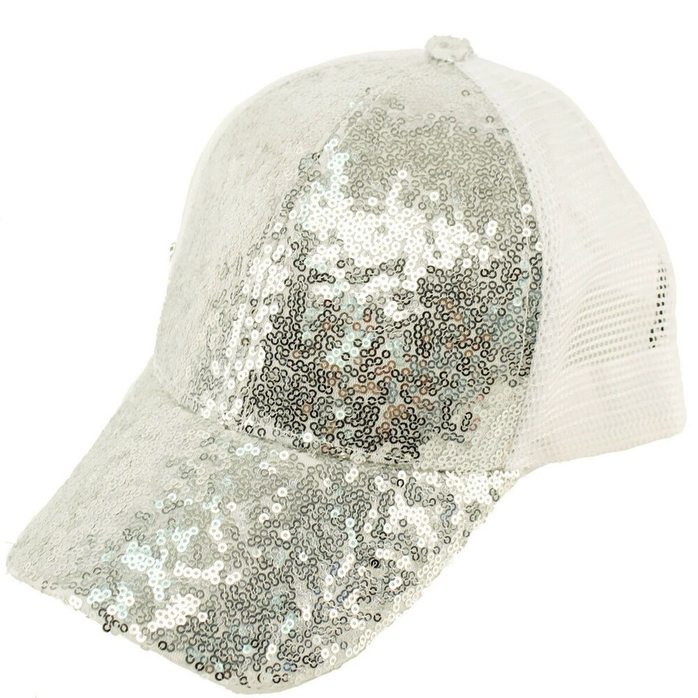 75771149c28 Everyday Sequins Bling Mesh Trucker Plain Baseball Ball Cap Hat Solid  Silver #fashion #clothing #shoes #accessories #womensaccessories #hats  (ebay link)