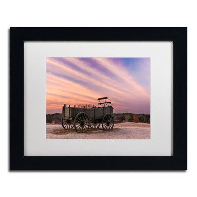 "Trademark Art 'Bygone Days' by Michael Blanchette Framed Photographic Print Size: 11"" H x 14"" W x 0.5"" D, Matte Color: White"