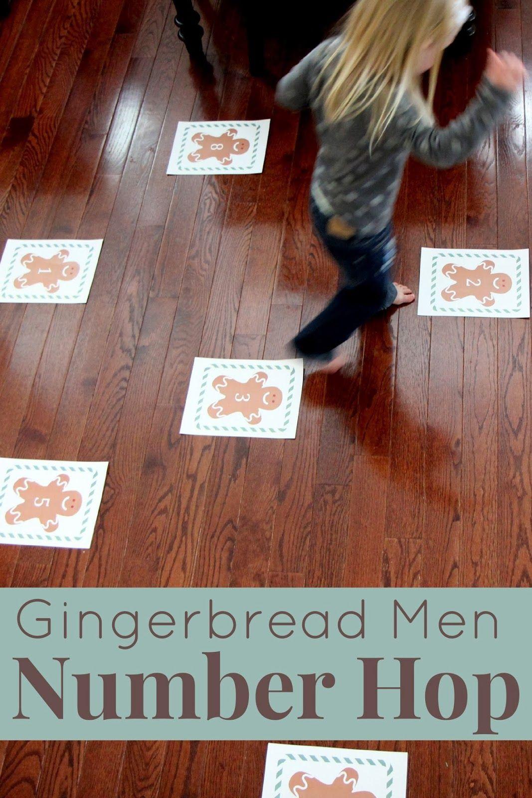 Gingerbread Men Number Hop